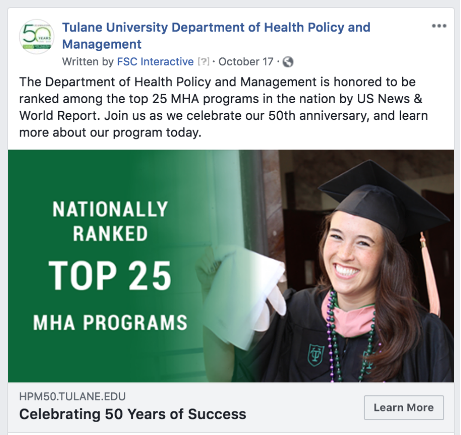 Facebook Ad for Consideration